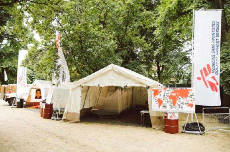 tienda campaña MSF