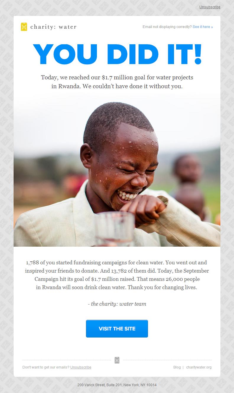 Reconocimiento - Charity Water