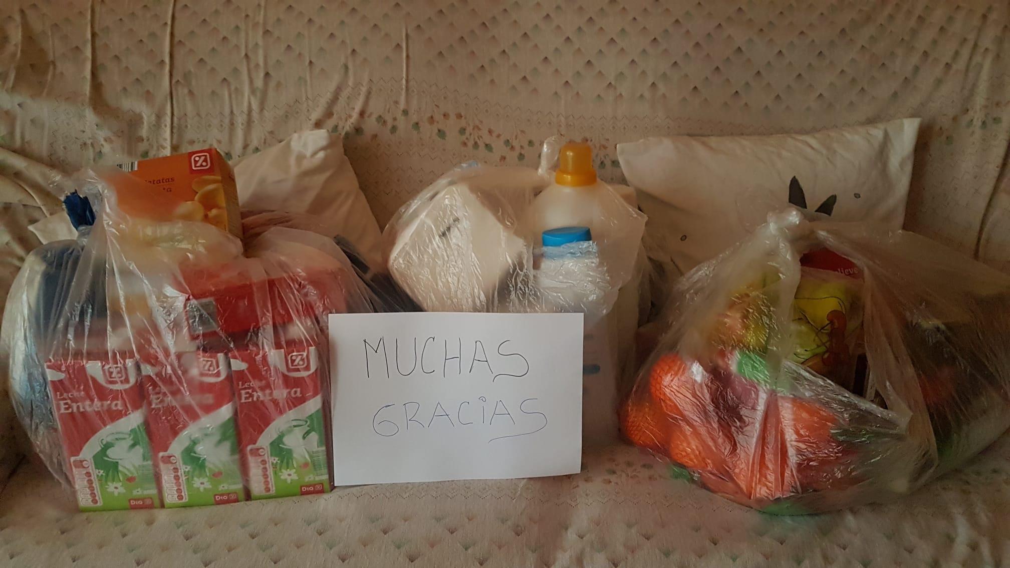 agradecimiento cesta comida civid