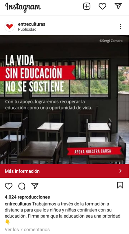 ejemplo lead magnet firma ONG Entre culturas
